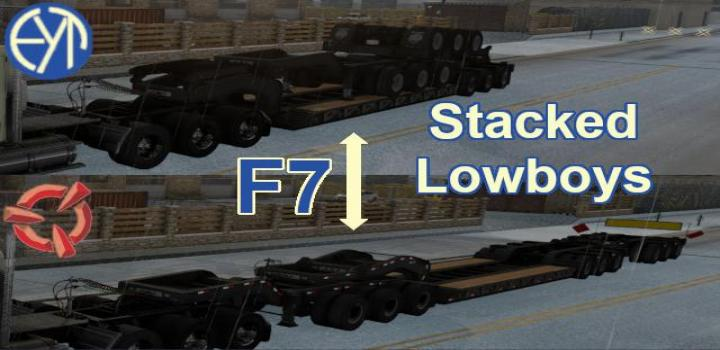 Photo of ATS – Stacked Scs Lowboy Trailers V1.0 (1.39.x)