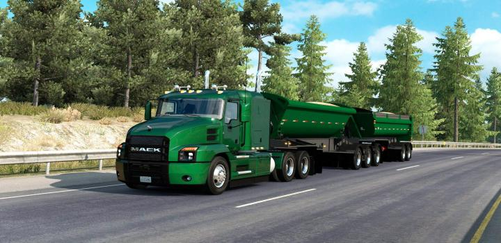 Photo of ATS –  The Midland B-Train Dump Trailer Ownable (1.39.x)