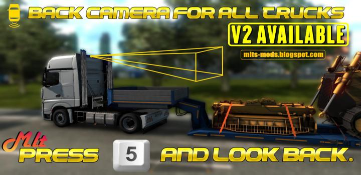Photo of ETS2 – Back Camera For All Truck Rear Camera V2.0 (1.39.x)