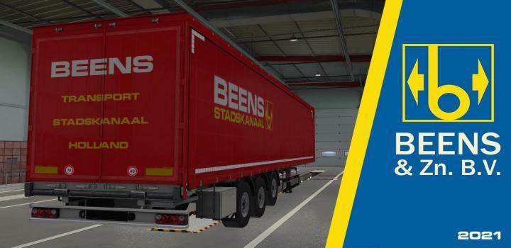 Photo of ETS2 – Beens & Zn. B.v. Stadskanaal For Schwarzmuller Curtain V1.0 (1.39.x)
