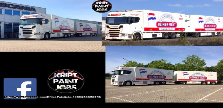 Photo of ETS2 – Beimer Meat Skin For Scania S V1.0 (1.39.x)