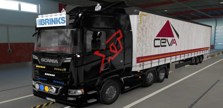 Photo of ETS2 – Big Lightbox Scania R And S 2016 Brinks (1.39.x)