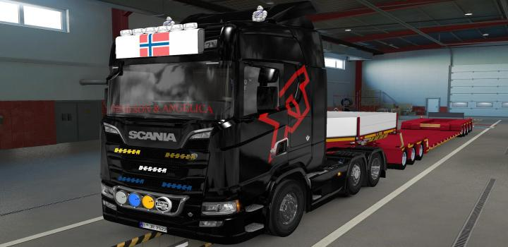 Photo of ETS2 – Big Lightbox Scania R And S 2016 Flag Of Norway (1.39.x)