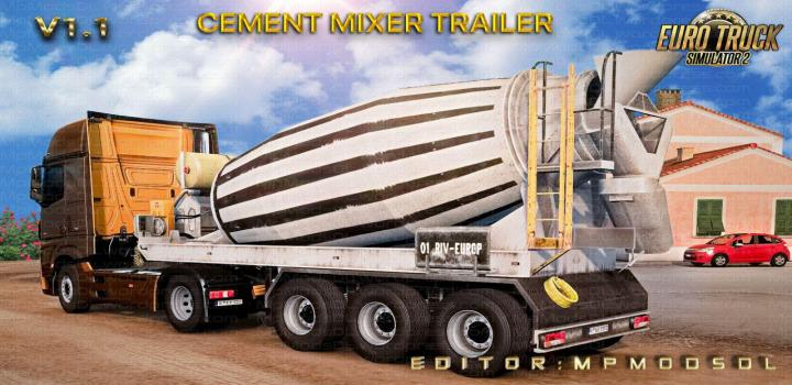 Photo of ETS2 – Cement Mixer Trailer Mod For Single-Multiplayer V1.1 (1.39.x)