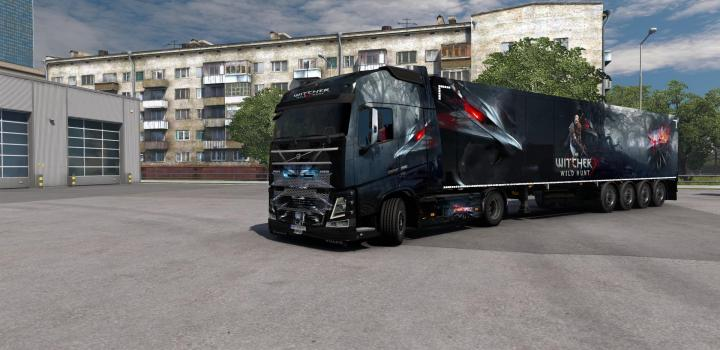 Photo of ETS2 – Combo Skin Witcher V1.0 (1.39.x)