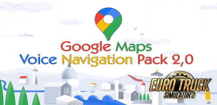 Photo of ETS2 – Google Maps Voice Navigation Pack V2.0 (1.39.x)