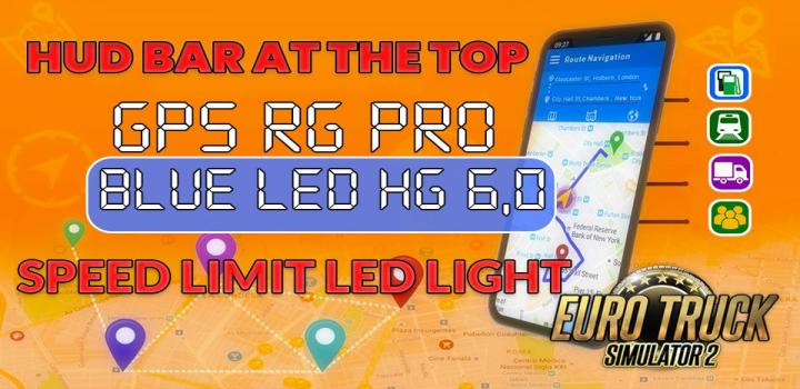 Photo of ETS2 – Gps Rg Pro Blue Led Hg V6.0 (1.39.x)