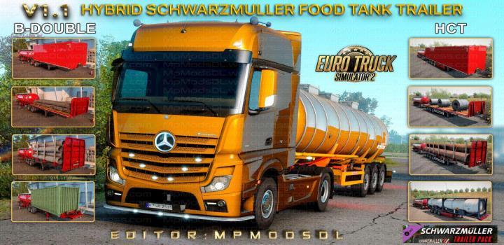 Photo of ETS2 – Hybrid Schwarzmuller Food Tank Trailer Mod V1.1 (1.39.x)
