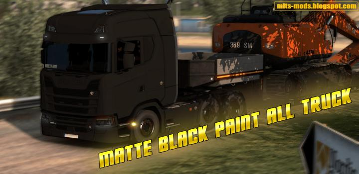 Photo of ETS2 – Matte Color Skin for All Trucks V0.1 (1.39.x)