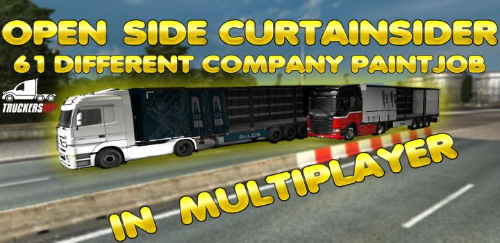 Photo of ETS2 – Open Side Trailer for Multiplayer 61 Different Company Paints V0.1 (1.39.x)