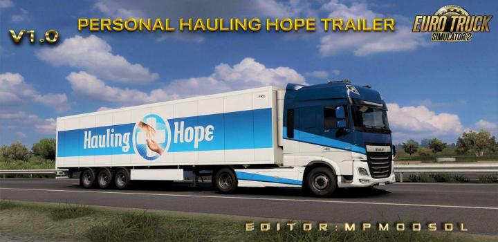 Photo of Personal Hauling Hope Trailer V1.0 ETS2 1.39