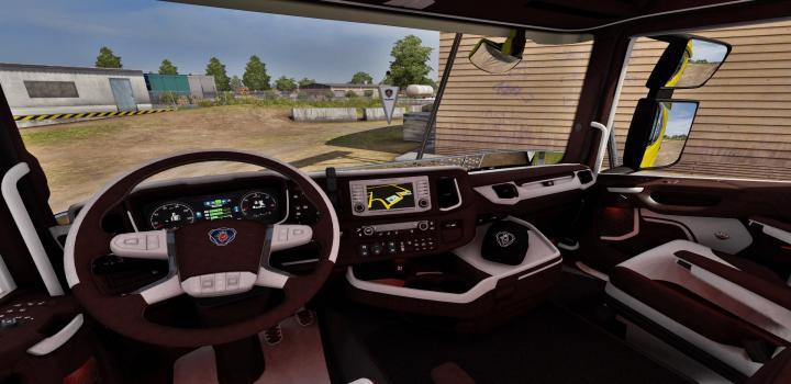 Photo of ETS2 – Scania Next Gen Brown – White Interior (1.39.x)