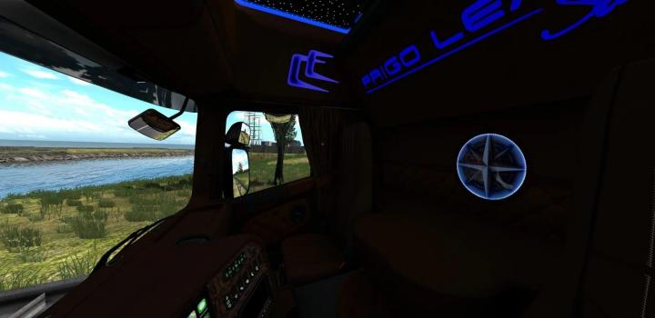 Photo of Scania Rjl Interior Frigo Leader Sarantos Style ETS2 1.39