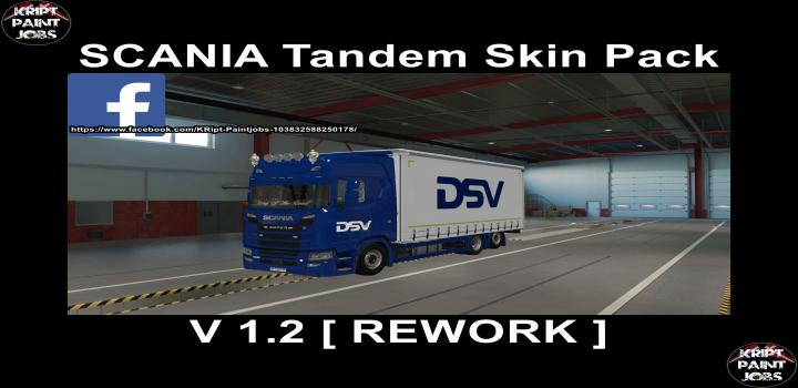 Photo of ETS2 – Scania S Krone Tandem Big Pack Rework V1.2 (1.39.x)