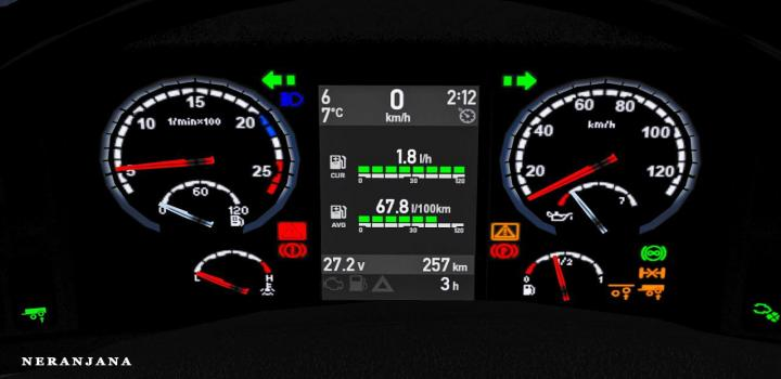 Photo of SCS + Rjl Scania R&S Dashboard G.3 ETS2 1.39