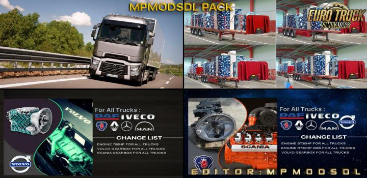 Photo of Single-Multiplayer Mod Pack ETS2 1.39