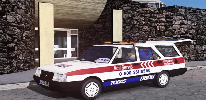 Photo of ETS2 – Tofas Kartal Emergeny Service (1.39.x)