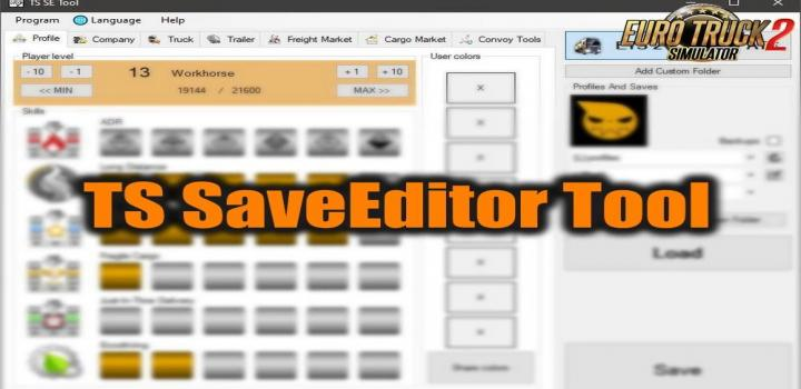 Photo of TS Saveeditor Tool V0.2.5.3 ETS2 1.39