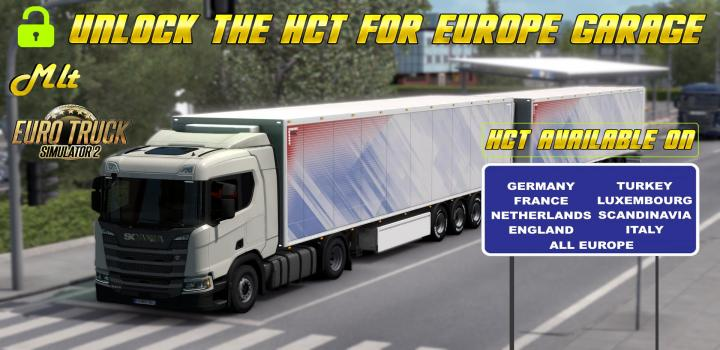 Photo of ETS2 – Unlock The Hct for Europe Garage V0.1 (1.39.x)