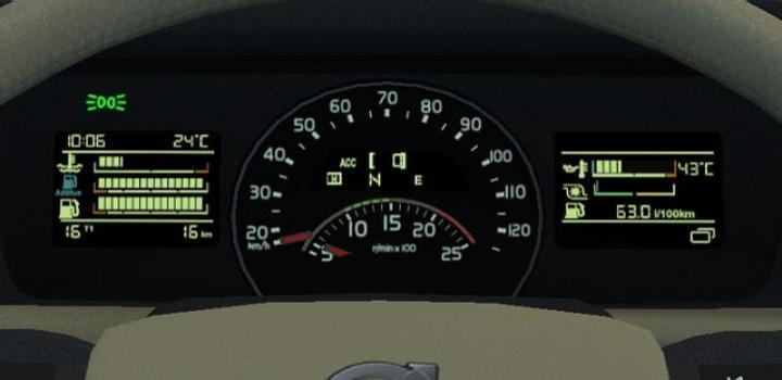 Photo of ETS2 – Volvo Fh 2012 Realistic Dashboard (1.39.x)