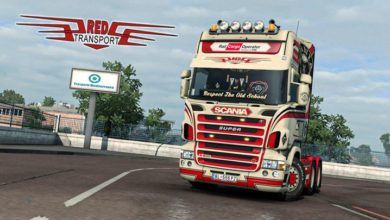 Photo of Red Transport Scania RJL Skin V1.0 ETS2 1.39