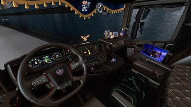 Photo of ETS2 – Scania S-R 2016 Brown Interior Pack V1.0 (1.39.x)