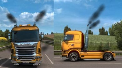 Photo of ETS2 – Smoke in My Trucks V1.0 (1.39.x)