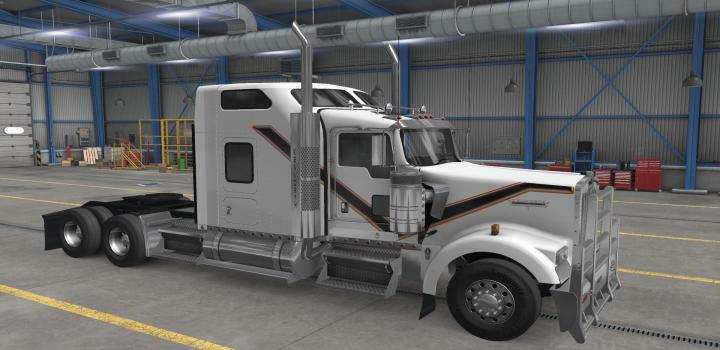 Photo of Kenworth W900 White Skin ATS 1.39