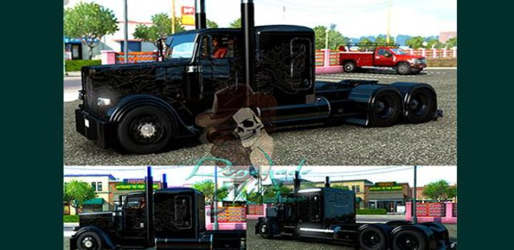 Photo of Peterbilt 389 Viper2 Blackout Skin ATS 1.39
