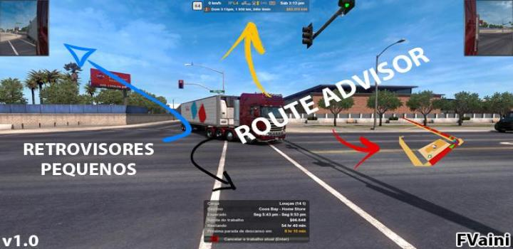 Photo of Route Advisor And Retrovisors V1.0 ATS 1.39