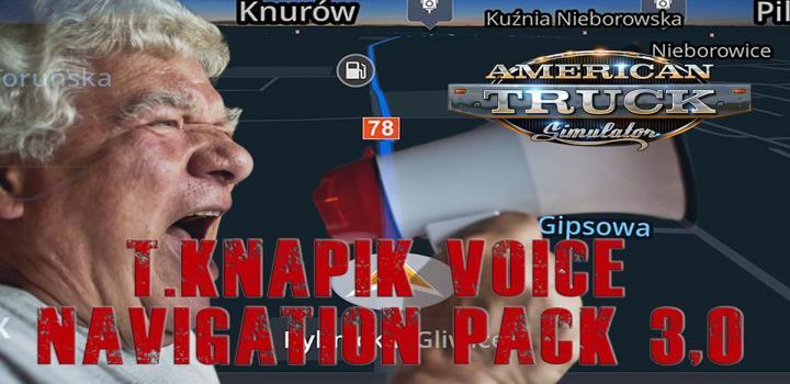 Photo of T.knapik Voice Navigation Pack V3.0 ATS 1.40