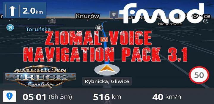Photo of Ziomal Voice Navigation Pack V3.1 ATS 1.40