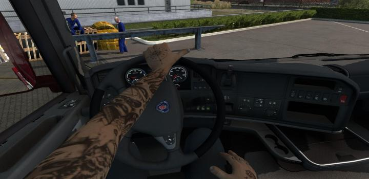 Photo of Animated Hands for Driver ETS2 1.39