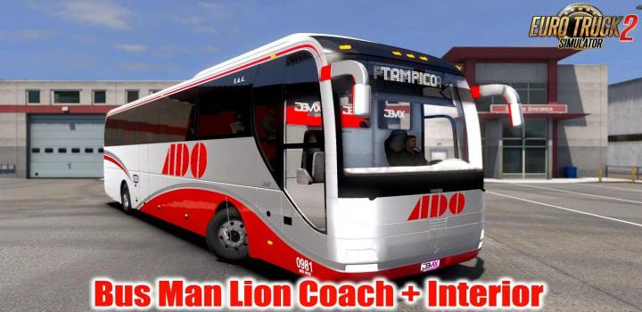 Photo of Bus Man Lion Coach + Interior V1.5 ETS2 1.39
