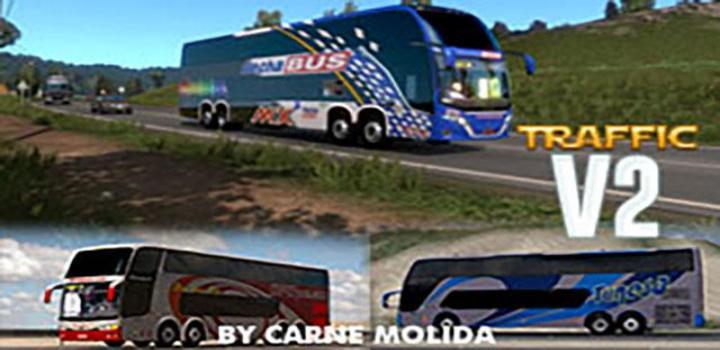 Photo of Busses In Traffic V2.0 ETS2 1.39