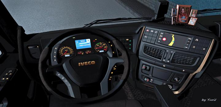 Photo of Dark Interior Iveco Hi-Way V0.9 ETS2 1.40