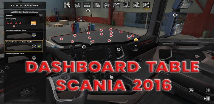 Photo of Dashboard Table Scania 2016 V1.0 ETS2 1.40