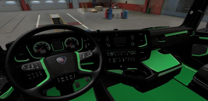 Photo of Green Interior for Scania 2016 V1.0 ETS2 1.40