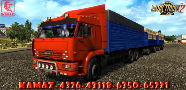 Photo of Kamaz – 4326 / 43118 / 6350 / 65221 + Trailers ETS2 1.40