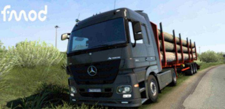 Photo of Mercedes Actros Mp3 V8 2009 Fmod Stereo ETS2 1.40