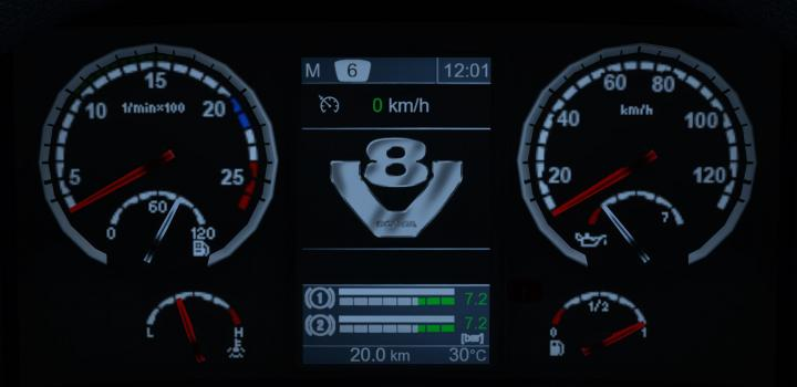 Photo of Realistic Scania Dashboard Computer ETS2 1.40