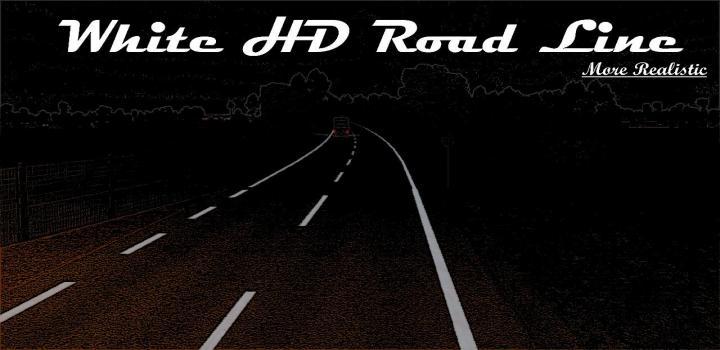 Photo of White/Yellow Hd Road Narrow V1.0 ETS2 1.40