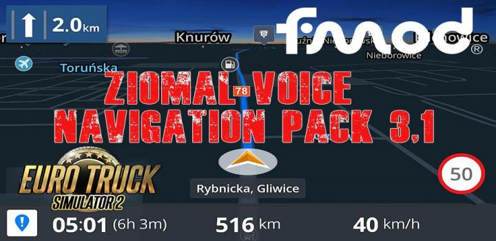 Photo of Ziomal Voice  Navigation Pack V3.1 ETS2 1.40