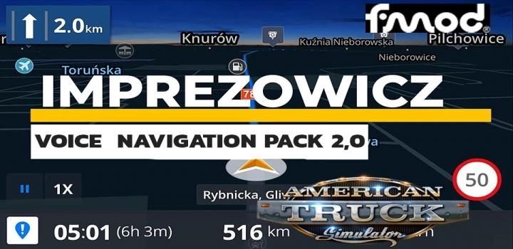 Photo of Imprezowicz Voice Navigation Pack V2.0 ATS 1.40