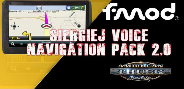 Photo of Siergiej Voice Navigation Pack V2.0 ATS 1.40