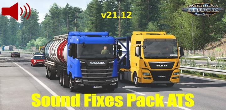 Photo of Sound Fixes Pack V21.12 ATS 1.40
