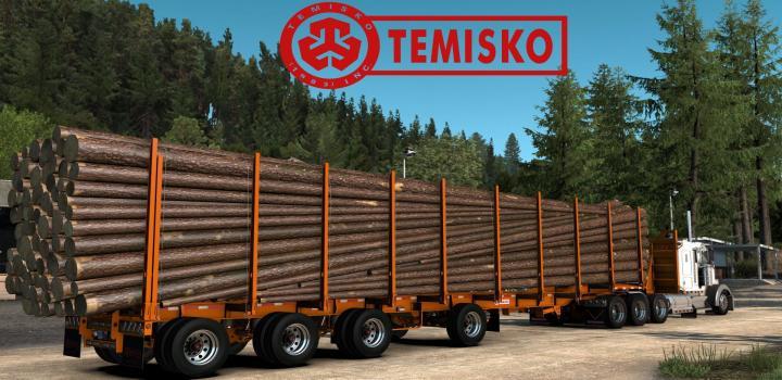 Photo of Temisko Quad Axle Log Trailer ATS 1.40