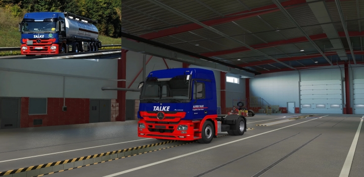 Photo of Alfred Talke Skin For Schumi Mercedes Benz Actros Mp3 ETS2 1.40
