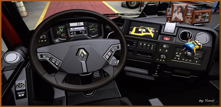 Photo of Dark Interior for Renault Range T V1.2 ETS2 1.39