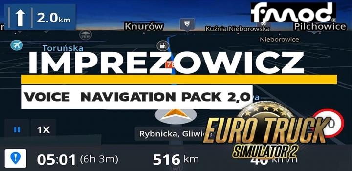 Photo of Imprezowicz Voice Navigation Pack V2.0 ETS2 1.40